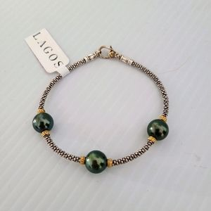 LAGOS Luna 925 750 Rope Bracelet with Pearls
